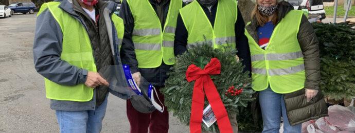 AMR Crew Posing at Wreath Distribution